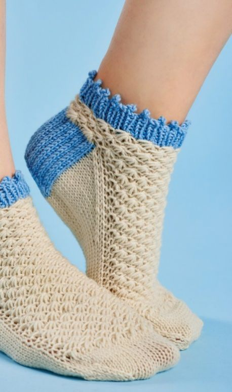 Textured Ankle Socks Free Knitting Patterns Accessories