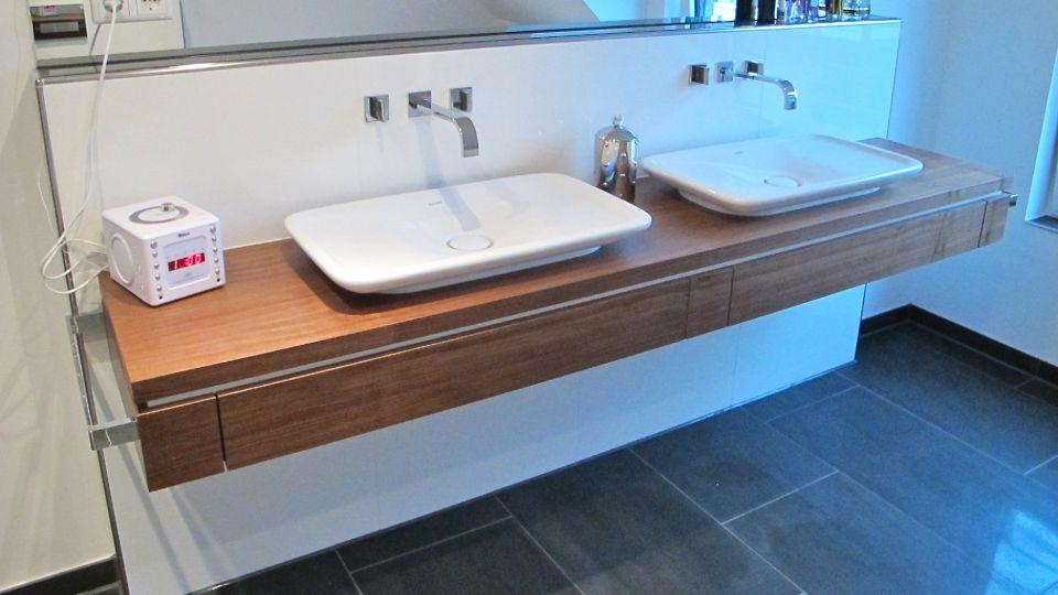 Showroom Bad Waschtisch Mit Aufsatzbecken 2 Schubladen
