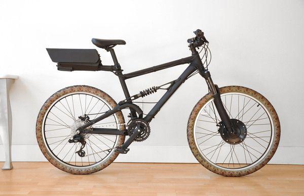 Dr Jones. Electric Bike Build by George  Schnakenberg, via Behance