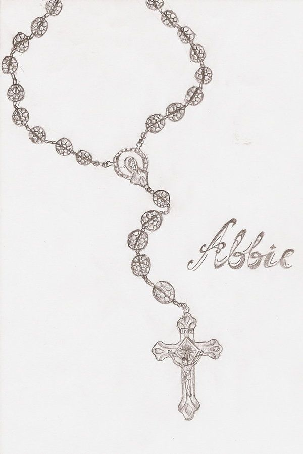 Rosary Beads Tattoo Design