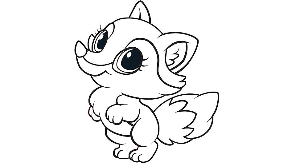 Learning Friends Fox Coloring Printable Fox Coloring Page