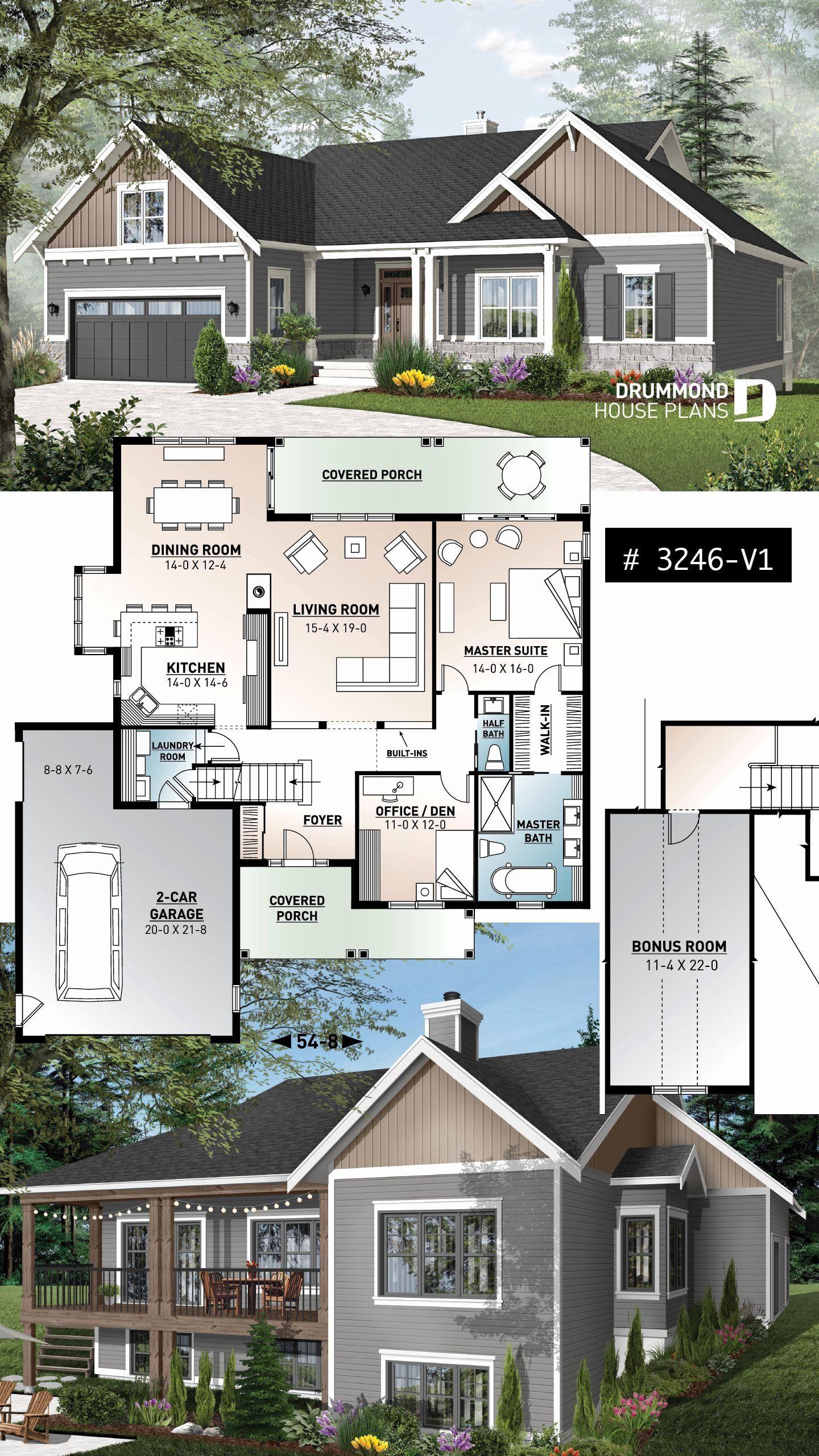 5 Bedroom Farmhouse House Plans Best Of Spectacular Modern Farmhouse Plan With Walkout Basemen In 2020 Craftsman House Plans Bungalow House Plans House Plans Farmhouse
