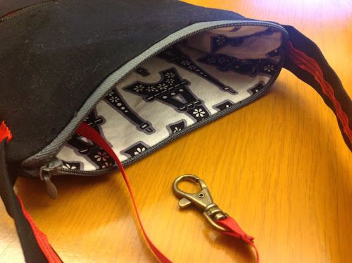 Small zippered bag tutorial