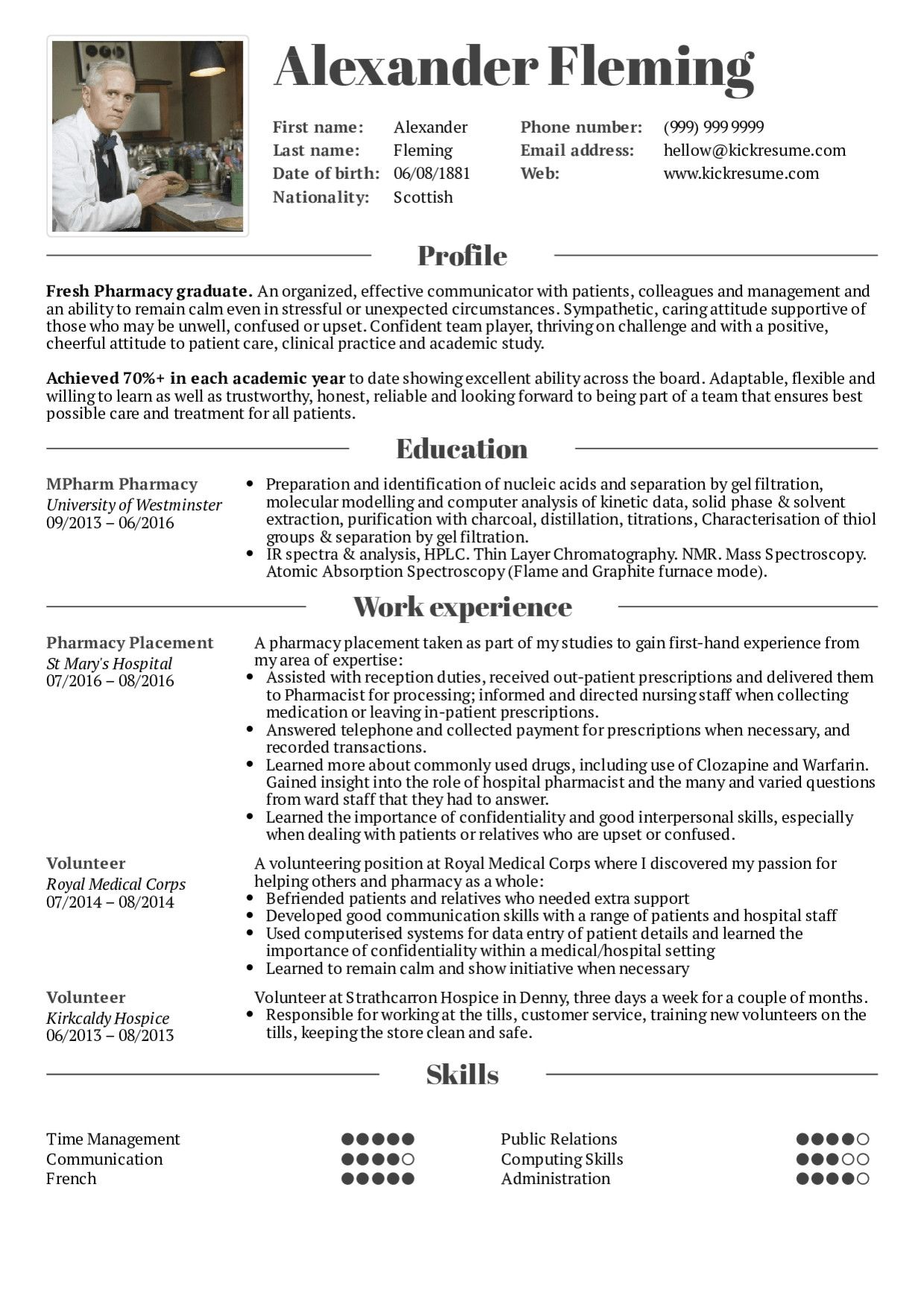Resume Examples for Students Contemporary Resume Examples