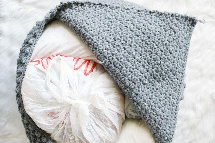 Free Crochet Pouf Pattern - modern, textured + economical ...