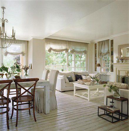 Un sal n comedor rom ntico muebles decoracion for Muebles romanticos blancos