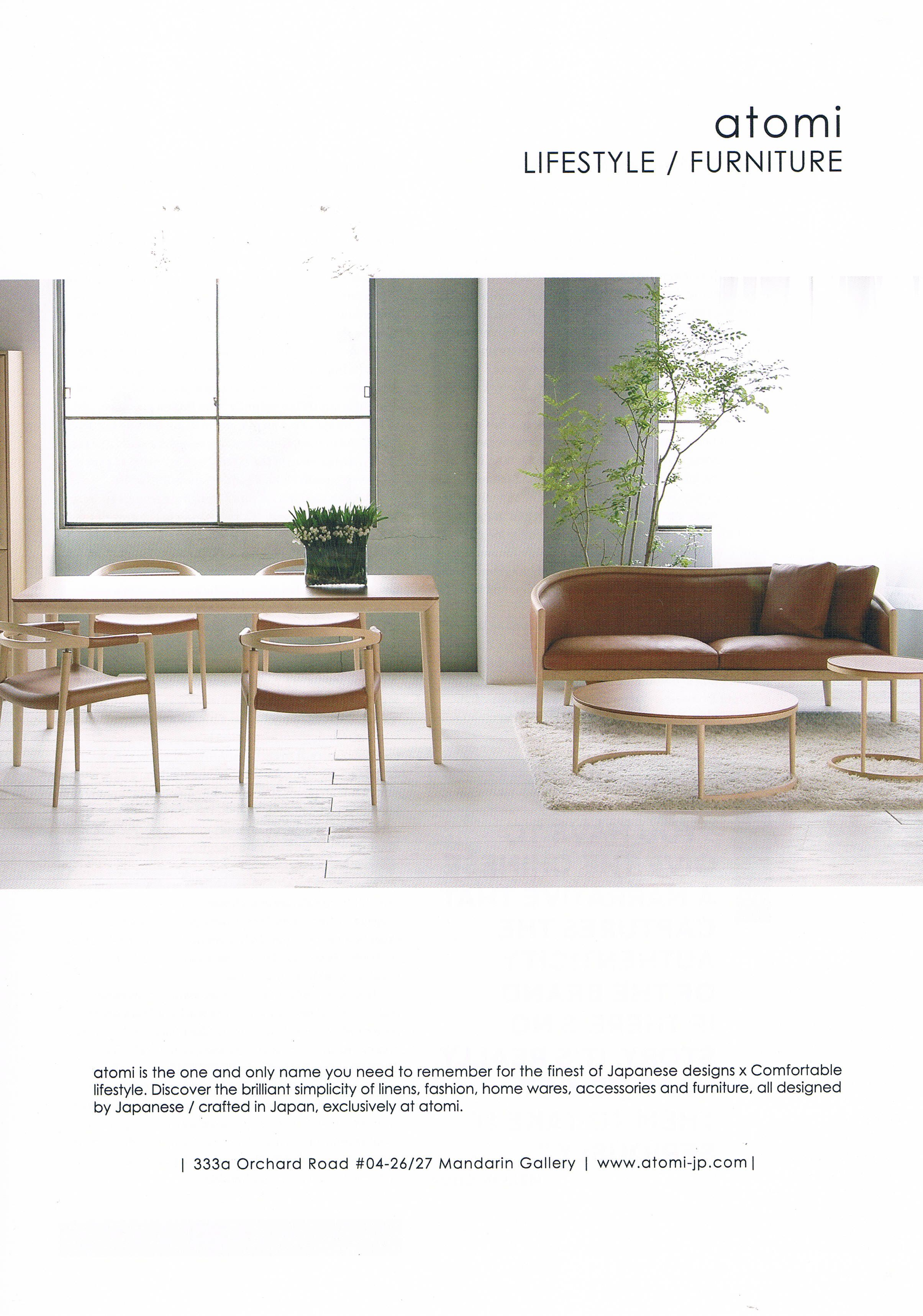 Atomi Is All About Japanese Designs X Comfortable Lifestyle Lifestyle Furniture Furniture Japanese Design