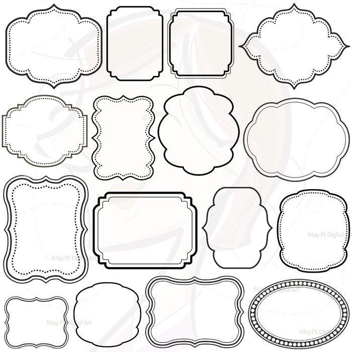 16 Digital Clip Art Frames Clipart Decoration Borders Download ...