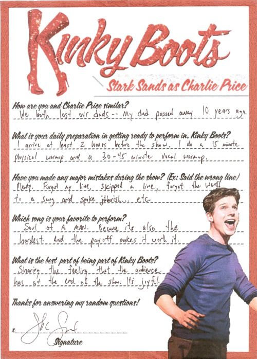 themonkeybananaking:   Stark Sands (Charlie Price): Questionnaire Received: June 20, 2013 For more click here: [x] To see more questionnaires click here: [x]