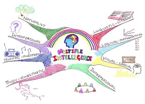 Multiple Intelligences project choice menu