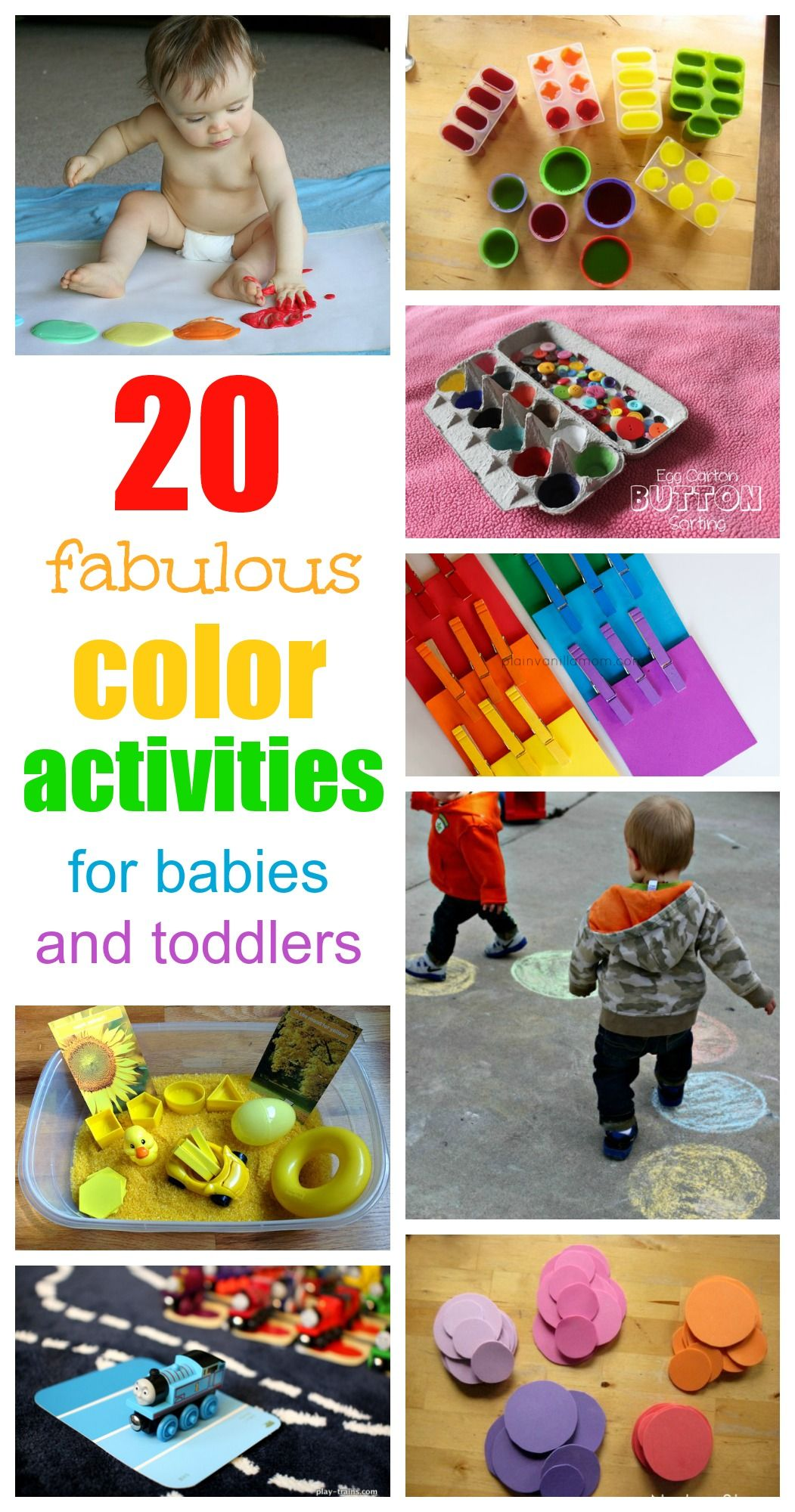 Fantastic Fun Color Activities For Babies And Toddlers