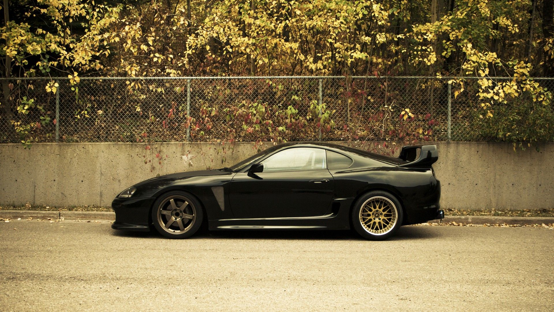 Toyota supra shining black hd wallpaper in full hd from the cars category