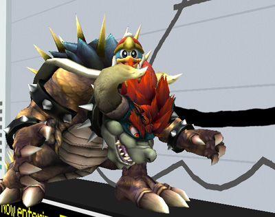 King Deedeedee rides Giga Bowser!