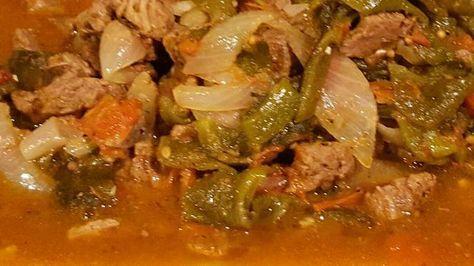Recetas Comidas Con Bistec De Puerco Carne De Res Con Rajas De Poblano Recipe Mexican Food Recipes