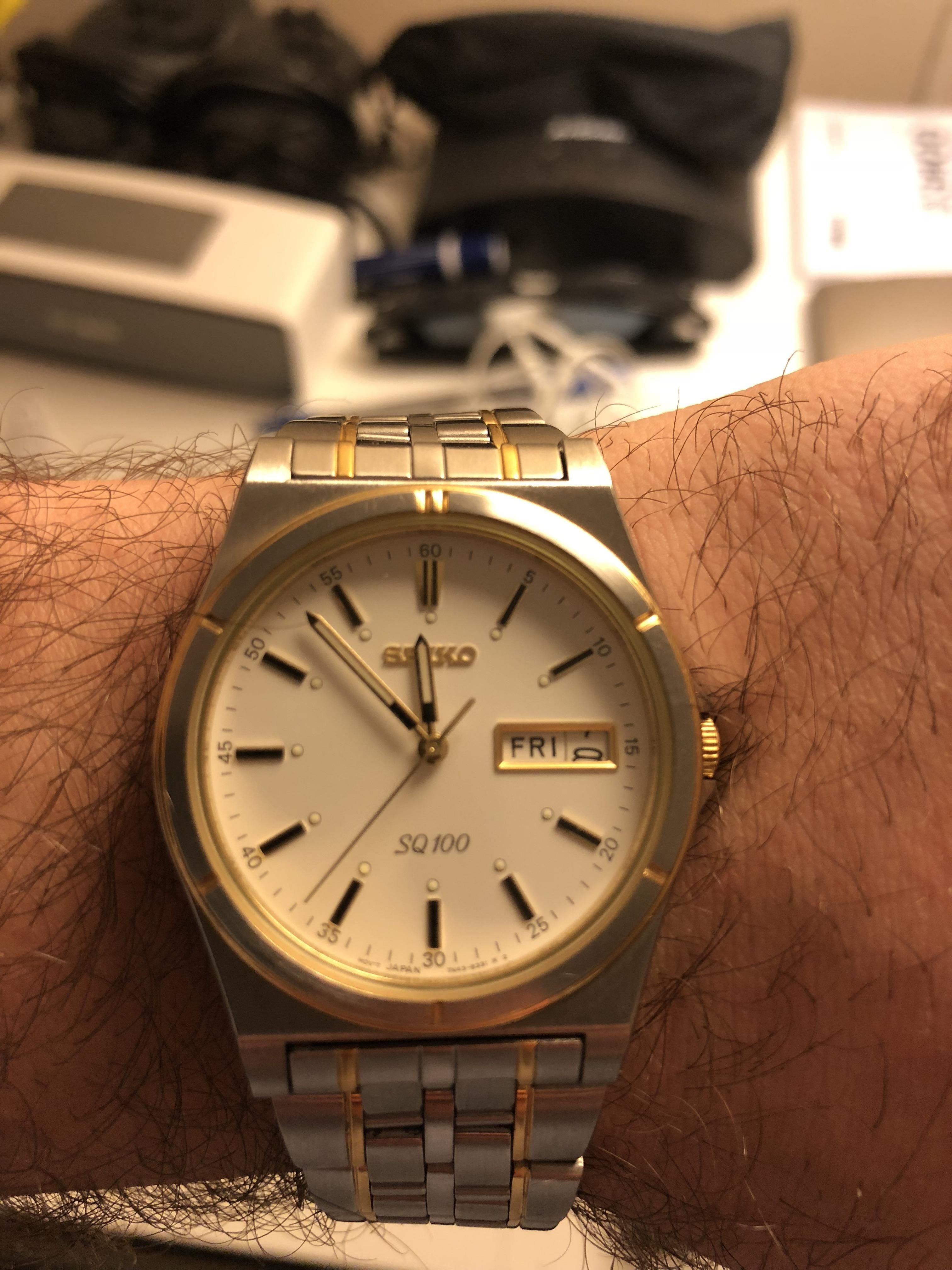 88e53e0e054 Seiko SQ100  inherited this piece from my granddad about a year ago ...