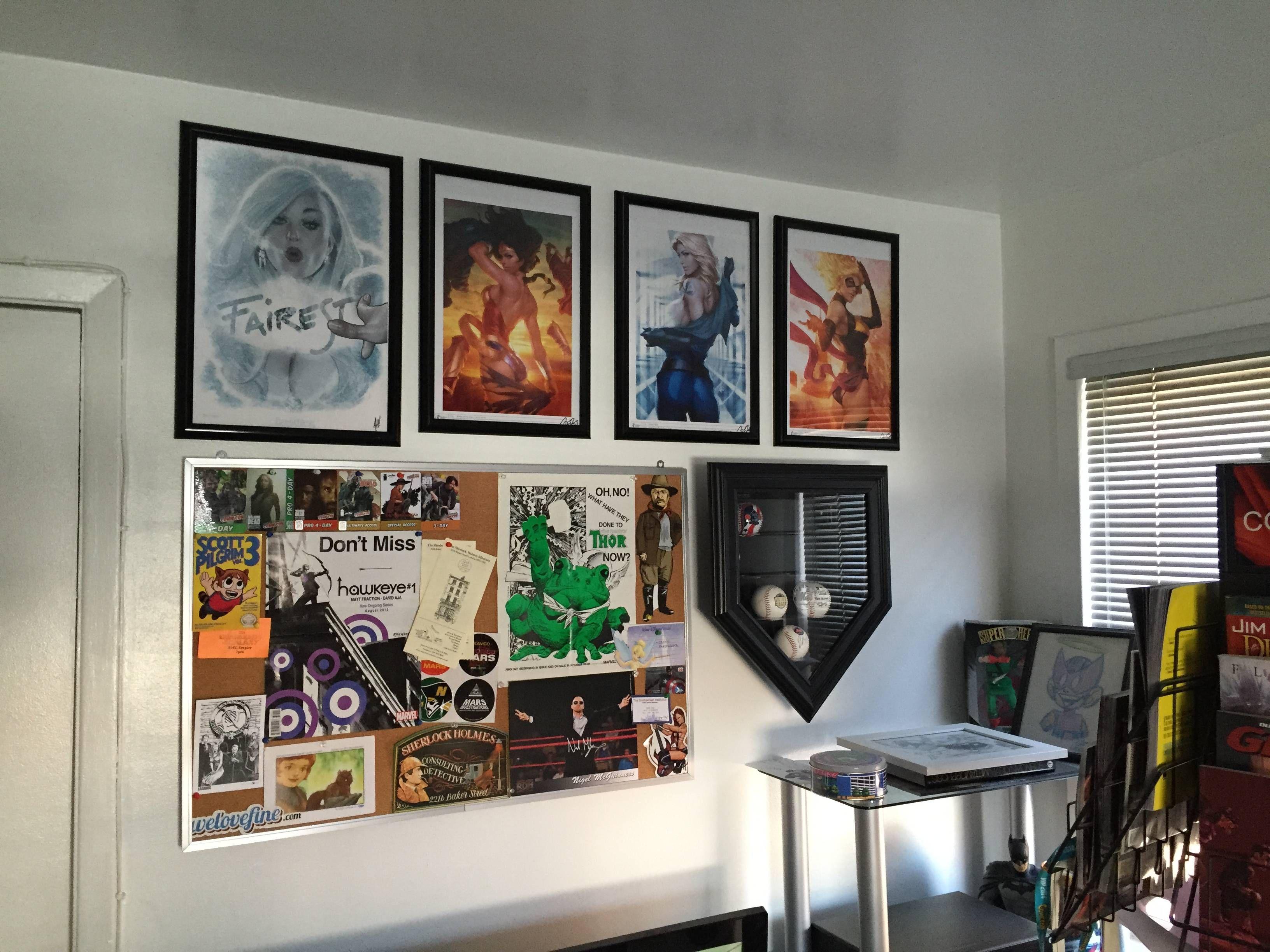 Comic Room Comic Room Gallery Wall Man Cave