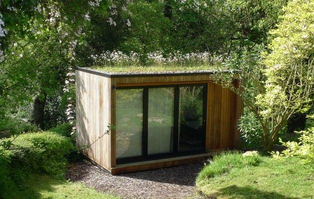 Grass Roof Contemporary Garden Rooms Contemporary Garden Garden Room