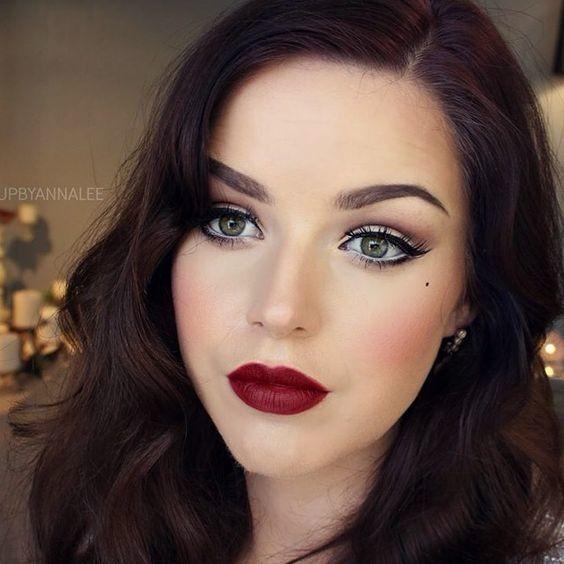 Stunning Burgundy Red Lips In 2020