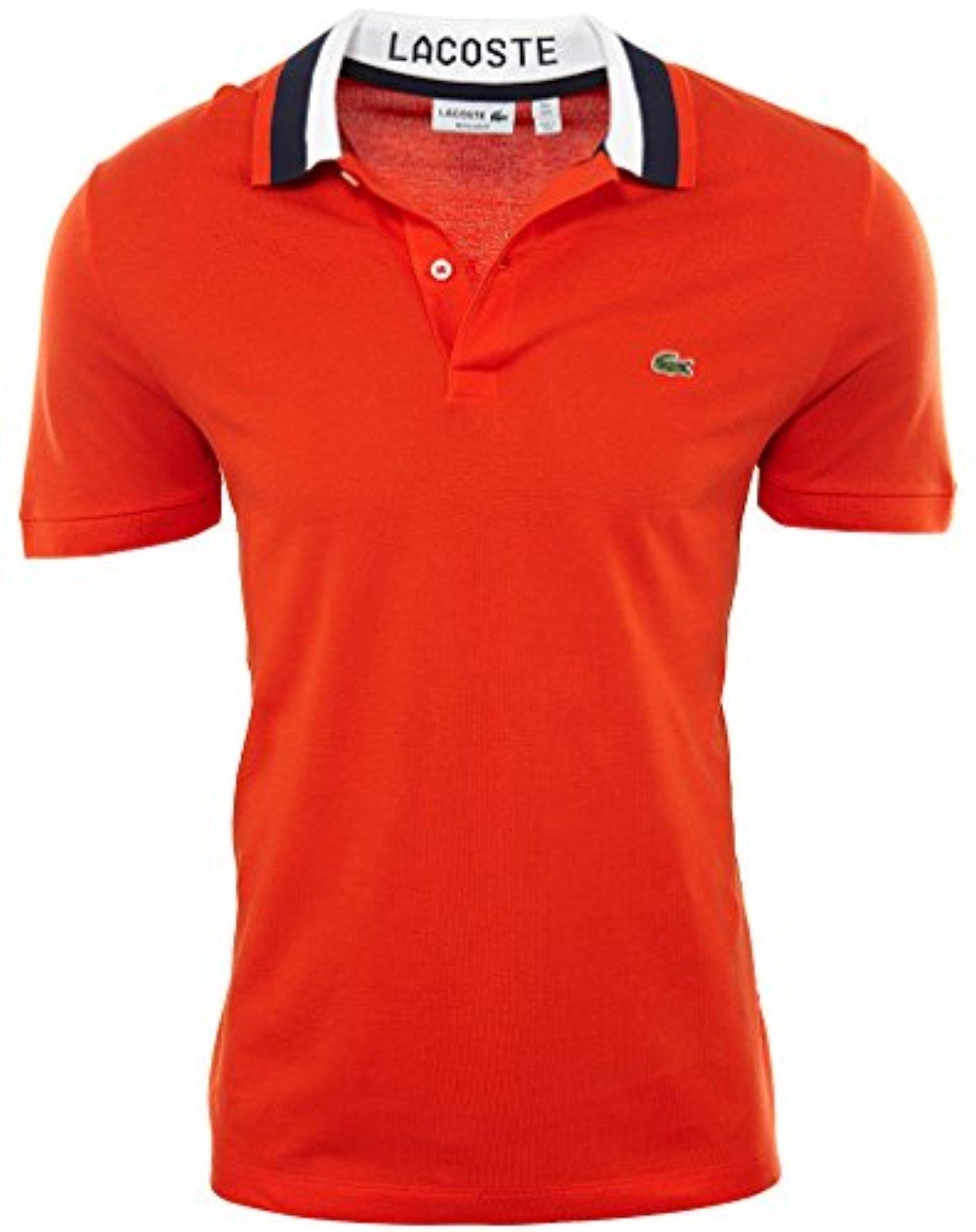 4d93cb4eb Lacoste Men s Short Sleeve Mini Pique Regular Fit Polo Shirt
