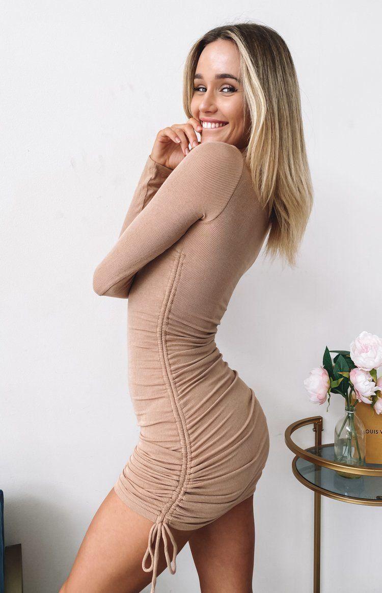 She S All That Long Sleeve Dress Tan 12 1000 Long Sleeve Dress Black Long Sleeve Dress Mini Dress [ 1164 x 750 Pixel ]