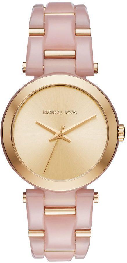 Michael Kors Rose and Gold Watch Pulseiras, Brincos, Relógio Michael Kors,  Bijuterias, 3a5b073a47