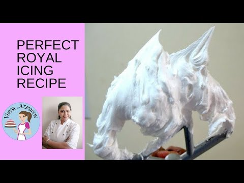 Royal Icing Recipe - Cake Decorating Tutorial (Veena's Art of Cakes) - YouTube #easyroyalicingrecipe