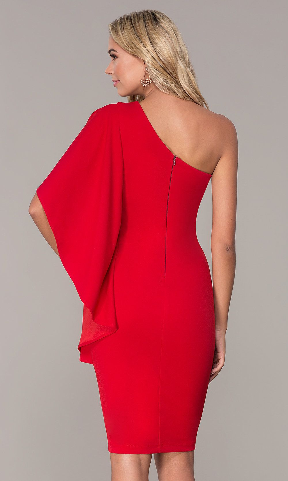 34++ Red one shouldered dress ideas in 2021