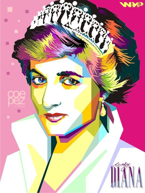 Lady Diana Wpap Arte Fantasia Artistas Rosto