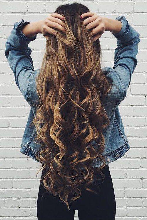 Big Voluminous Curls Hair Tutorial Long Hair Styles Hair Styles Curly Hair Styles
