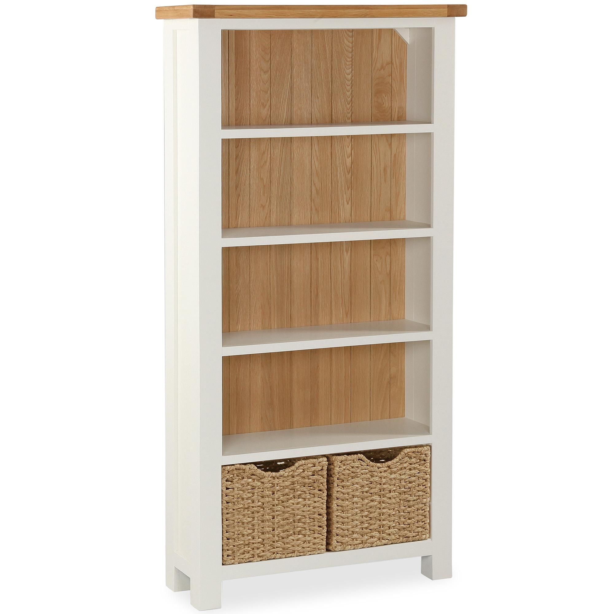 Dunelm Cream Wilby Large Bookcase Large Bookcase Cream Bedroom