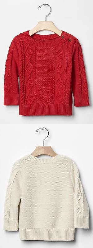 21ed05ce418b Sweaters 147338  Baby Gap Nwt Red Cable Cableknit Sweater 3-6 Months ...