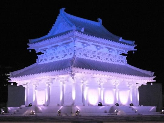 japanese sapporo snow festival the sapporo snow festival. Black Bedroom Furniture Sets. Home Design Ideas