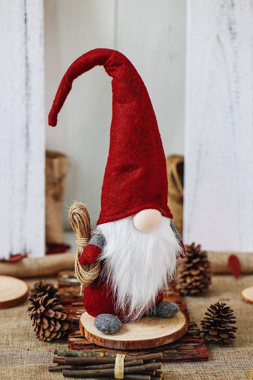 Handmade Swedish Tomte Santa Scandinavian Gnome Plush Ad Giftideas Christmas Scandinavian Christmas Decorations Gnomes Christmas Decorations