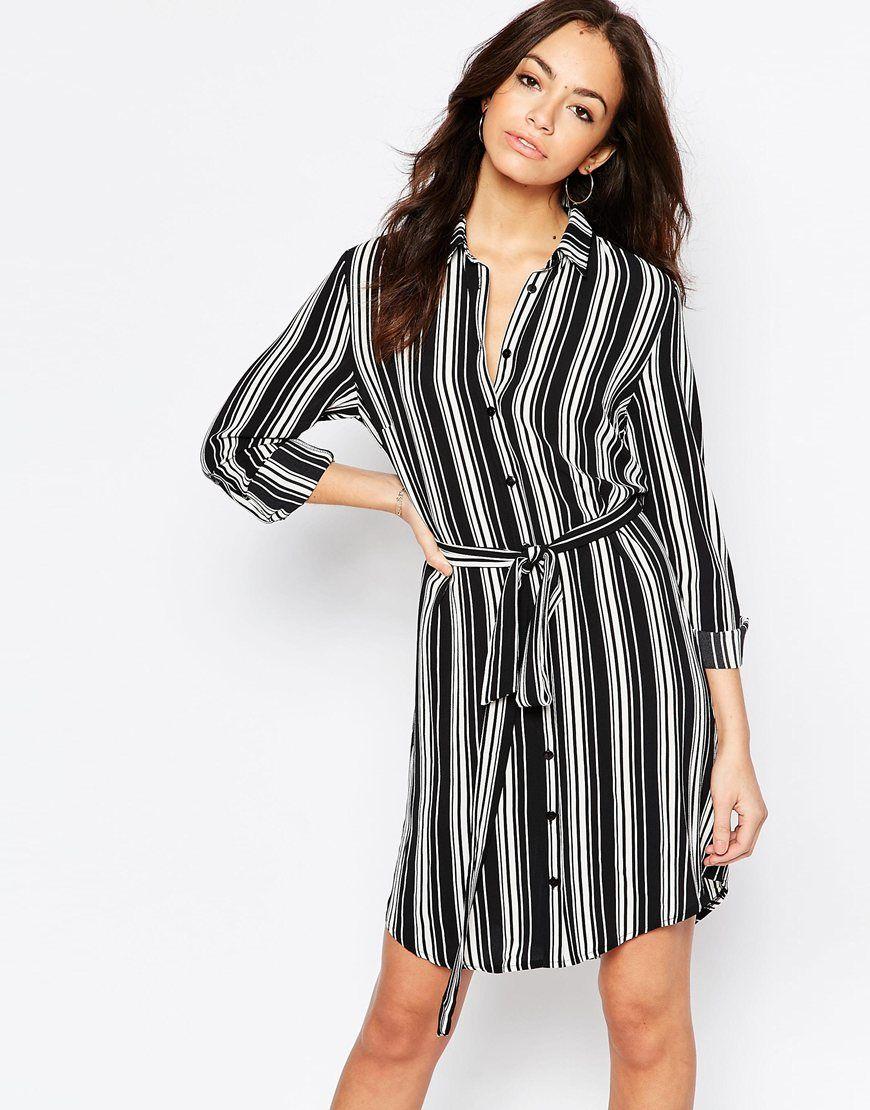 94d793d93f New Look Stripe Shirt Dress   Fashion   Striped shirt dress, Shirt ...