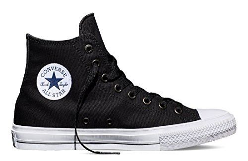 48e4a26a211 Converse Men s Chuck Taylor All Star II OX Casual Shoes Black White Navy  150143C