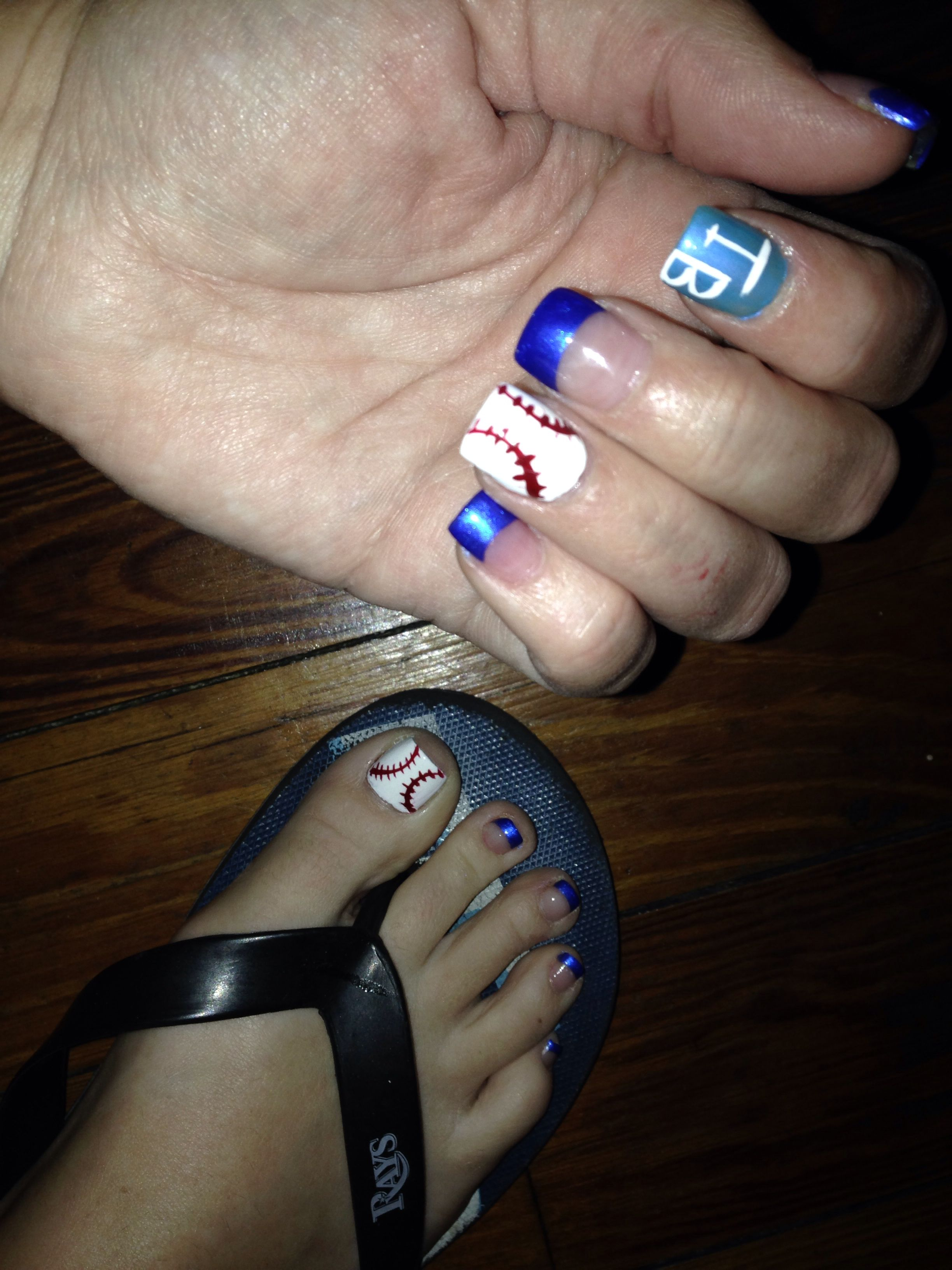 Tampa Bay Rays Nails Nail Art Team Spirit