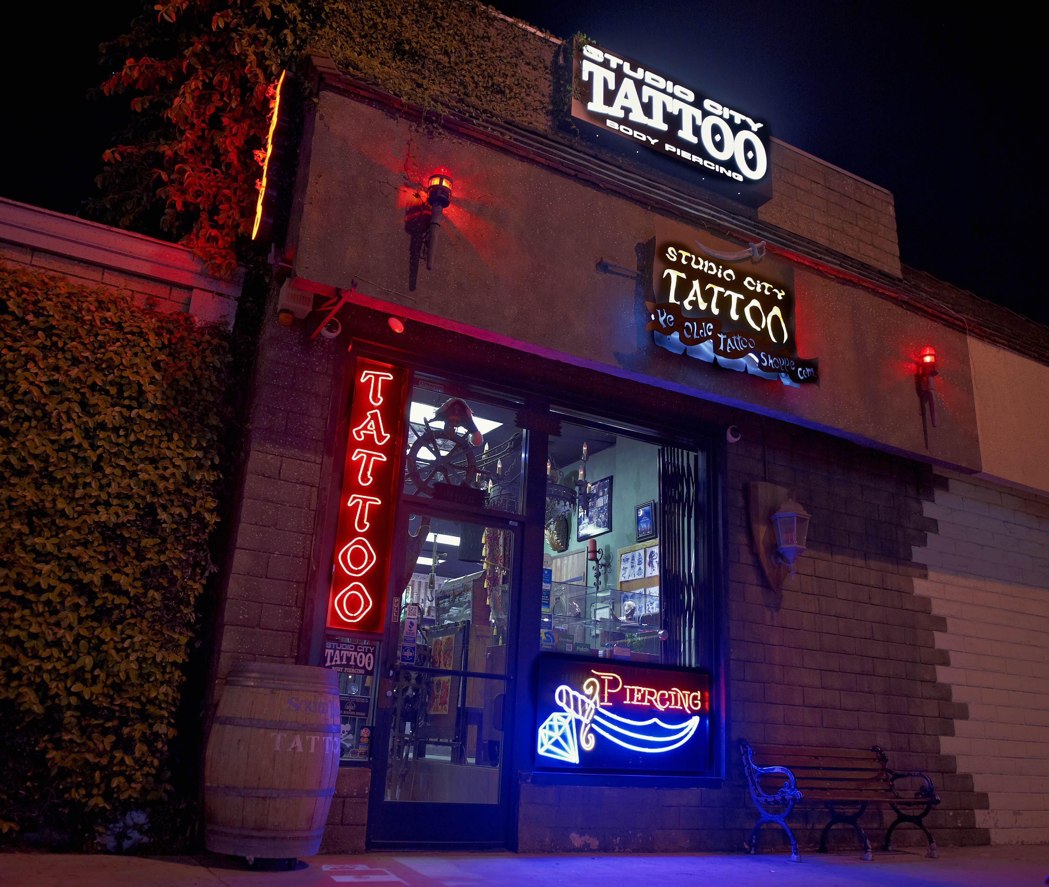 Studio City Tattoo Exterior Tattoo shop, City tattoo