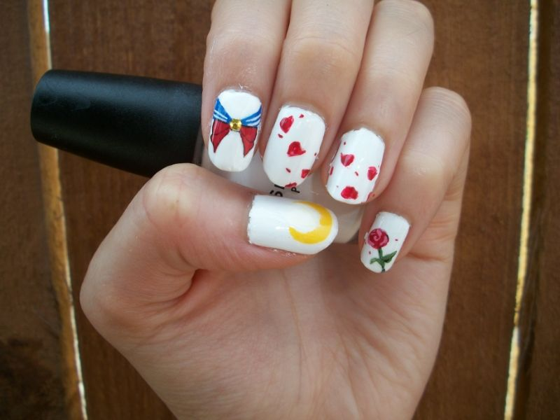 Sailor Moon Inspired Nail Art Design By Itsbejarano Deviantart On