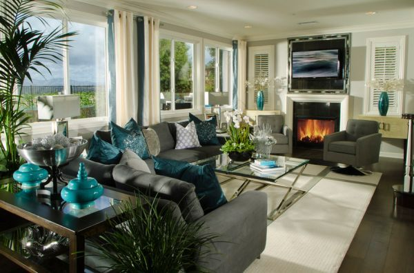 Decorating With Turquoise Colors Of Nature & Aqua Exoticness Gorgeous Living Room Turquoise Design Inspiration