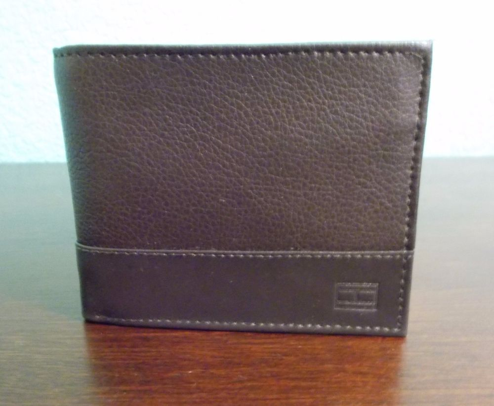 TOMMY HILFIGER LEATHER PASSCASE & VALET Mens Brown Wallet Gift Boxed NWB #TommyHilfiger #Bifold