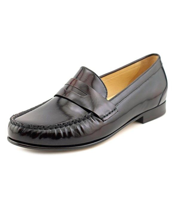 New Trendy Cole Haan Monroe Penny Round Toe Leather Loafer Brown For Women On Sale