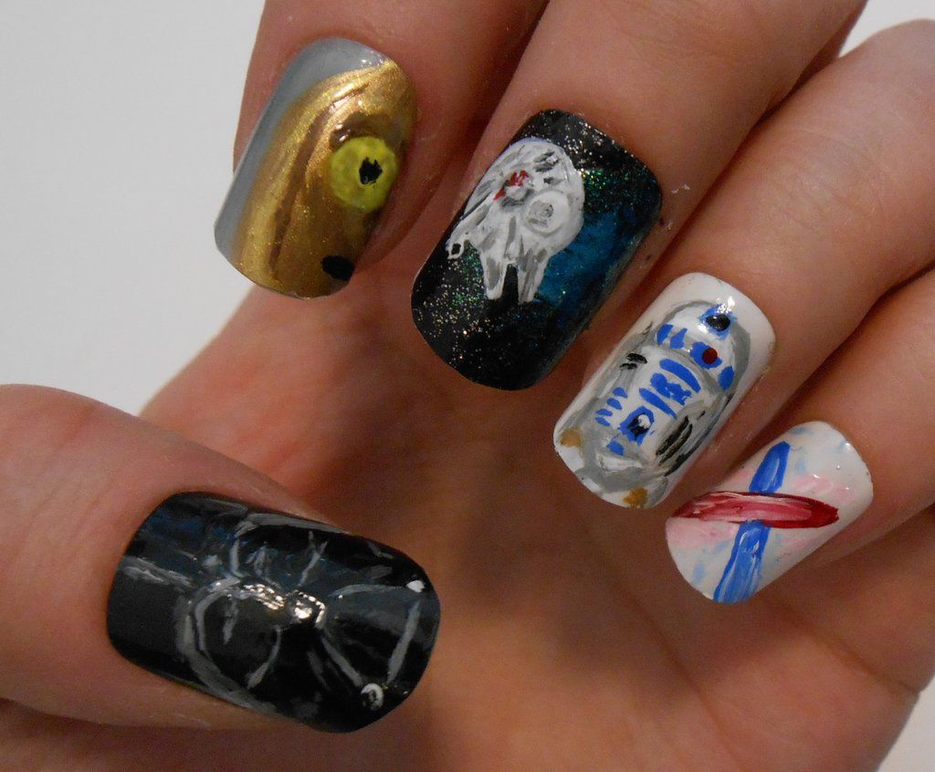 Star Wars nails by me, My DA page : http://henzy89.deviantart.com ...