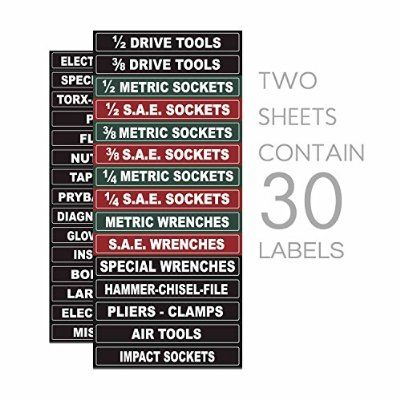 Steellabels Magnetic Tool Box Organizer Labels Organize Boxes Drawers Cabinets Quick Easy F Organizing Labels Tool Box Organization Organization Boxes
