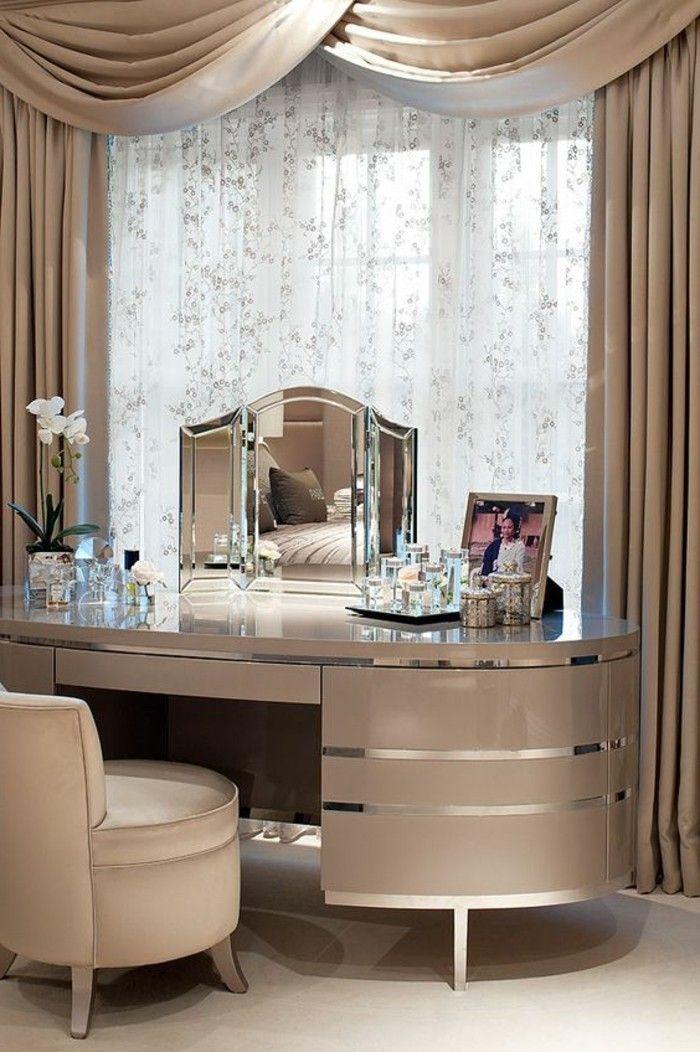 2 Schminktisch Frisiertisch Mit Spiegel Grauer Schminktisch Mit Kleider Stuhl Schlafzimmer Design Schminktisch Modern Haus Interieurs