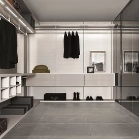 Modern Walk In Wardrobe minimal modern walk-in closetstudio verticale | #closets
