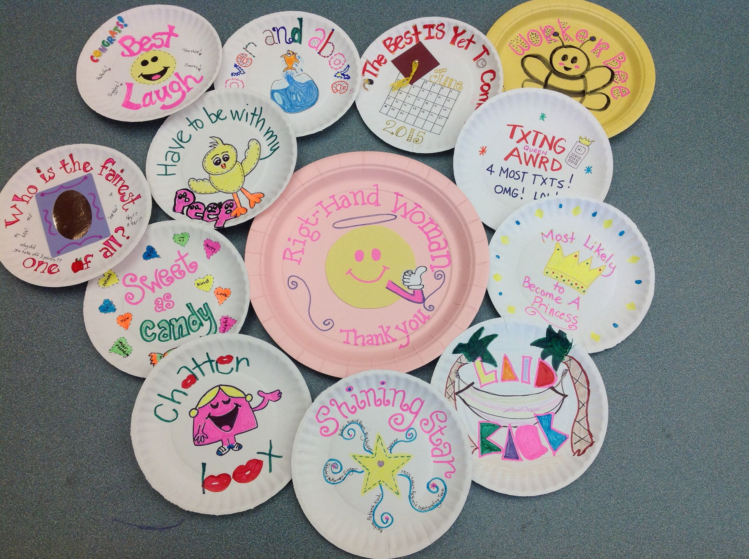 End of the year awards for my year two high school students!! They loved. Paper Plate ... & End of the year awards for my year two high school students!! They ...