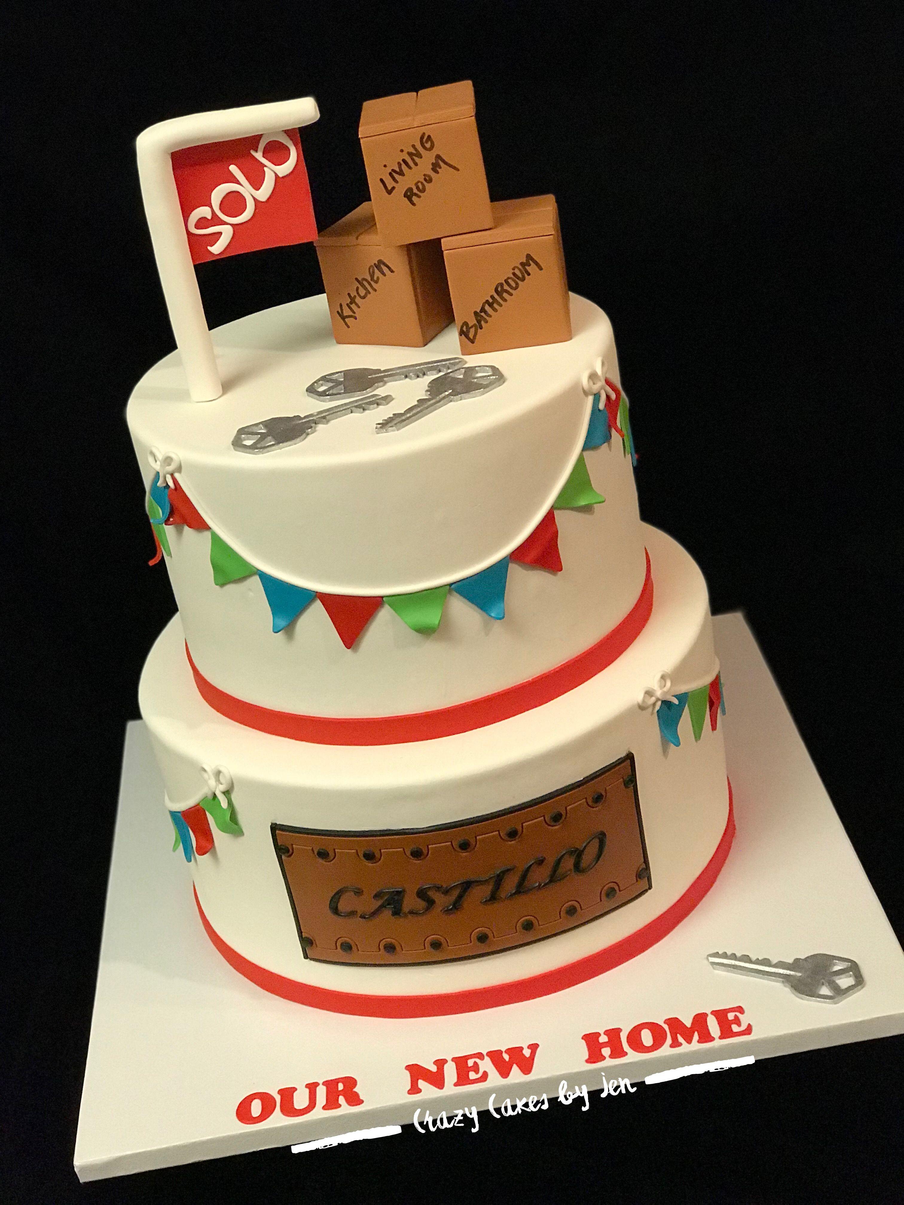 Housewarming cake fondant work crazycakesbyjen all