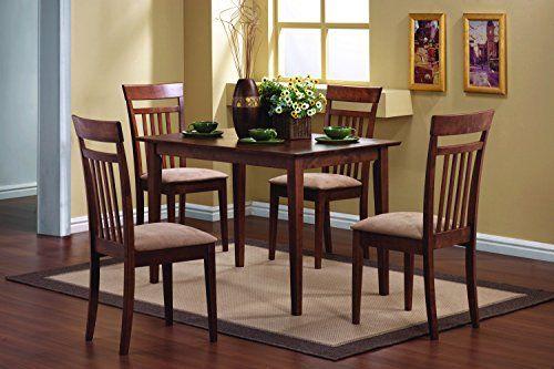 Coaster 5-Piece Dining Set in Chestnut finish \u2013 Furniture Table