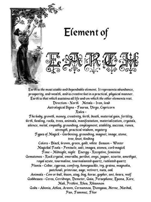 Element of Earth   Witches Of The Craft®   - Pinned by The Mystic's Emporium on Etsy