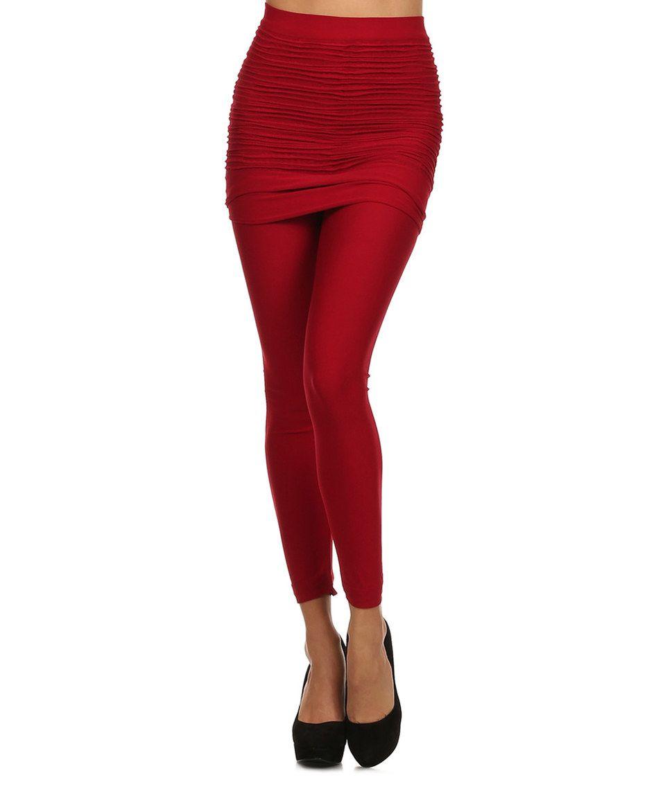 Another great find on #zulily! Karen T. Design Red Skirted Leggings - Women by Karen T. Design #zulilyfinds